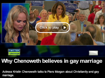 Why Kristin Chenoweth Thinks Michele Bachmann Is Wrong About Gay Marriage