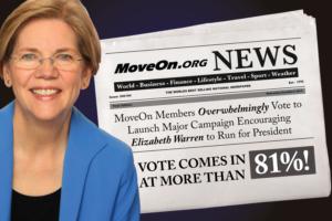 MoveOn members vote to encourage Warren to run