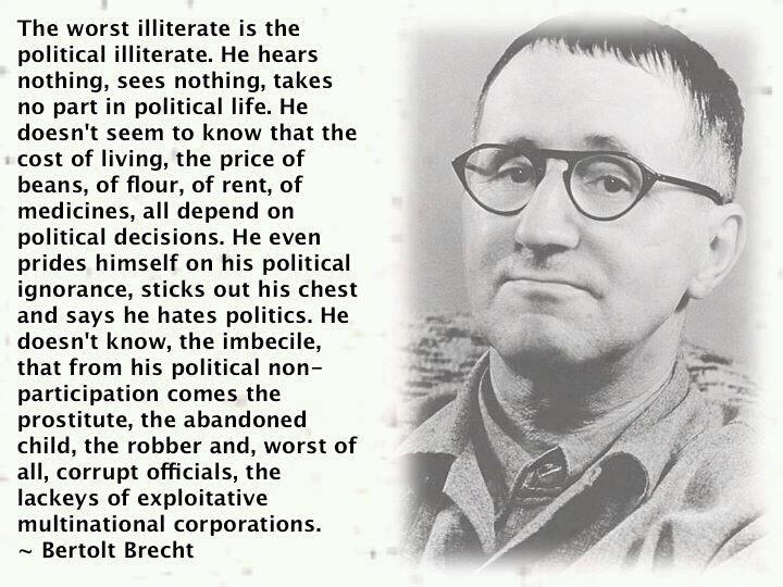 A Perfect Quote To Share With Friends Who Think Politics Is Beneath Unique Political Quotes