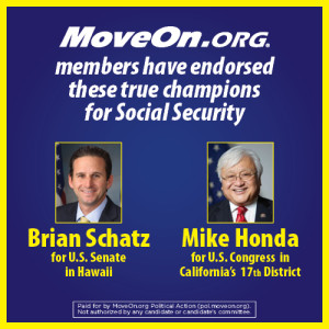 MoveOn members endorse Schatz and Honda