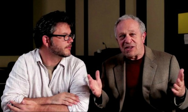 Director Jacob Kornbluth (left) and Robert Reich.