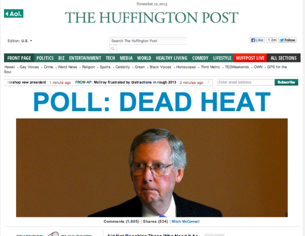 HuffPo Screen Shot McConnell Poll