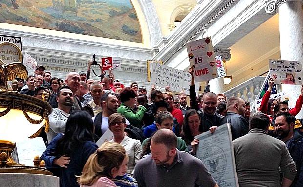 Utah marriage equality rally