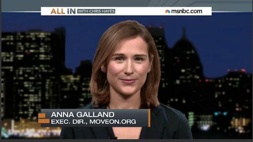 Anna Galland on MSNBC