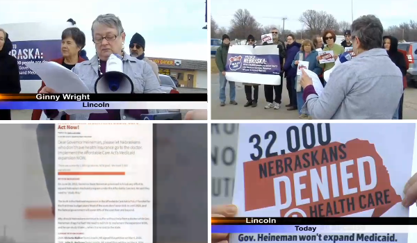 MoveOn members in Nebraska were featured   on Lincoln news