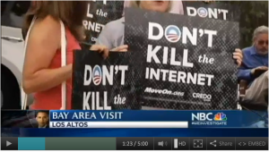 Activists rally outside Obama fundraiser: Don't Kill the Internet