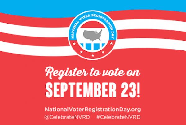 Register to Vote on National Voter Registration Day, Sept. 23