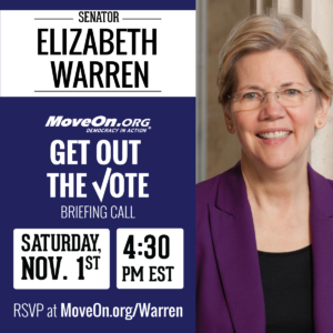 Elizabeth Warren GOTV Call