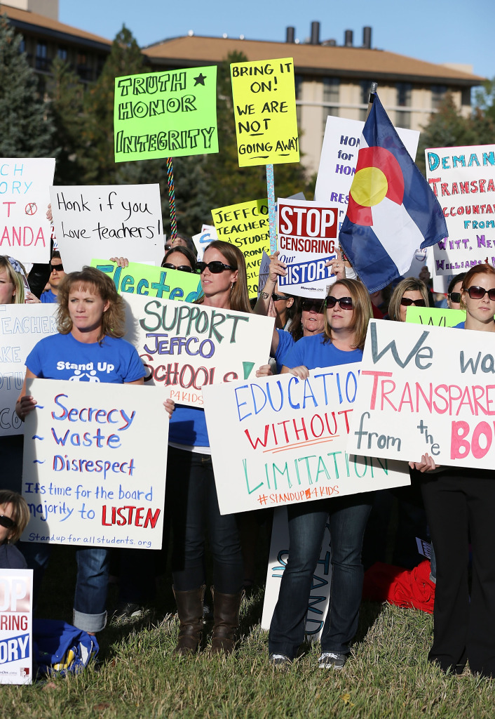 Students Protest School Board's Censorship Of History Curriculum