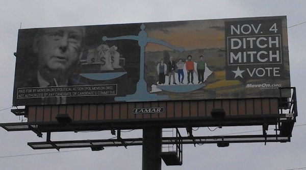 Winning Quot Ditch Mitch Quot Billboard Goes Up In Lexington Ky
