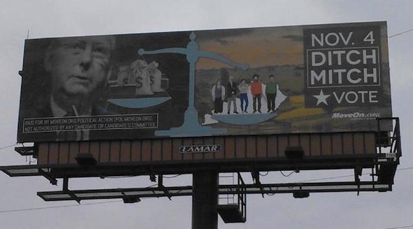 Ditch Mitch Billboard in Lexington