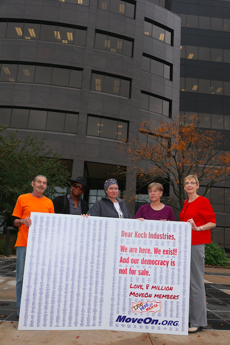 Deliverying Greeting Card to Koch HQ