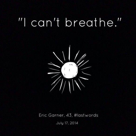 """I can't breath."""