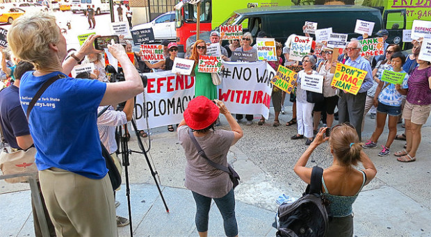 Thousands rally for peace and diplomacy at Congressional offices across the country.