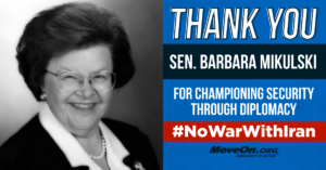 20150820_Moveon_IranDeal_ThankYou_Continued_BarbaraMikulski