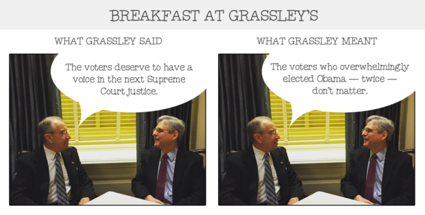 Breakfast at Grassley's 1
