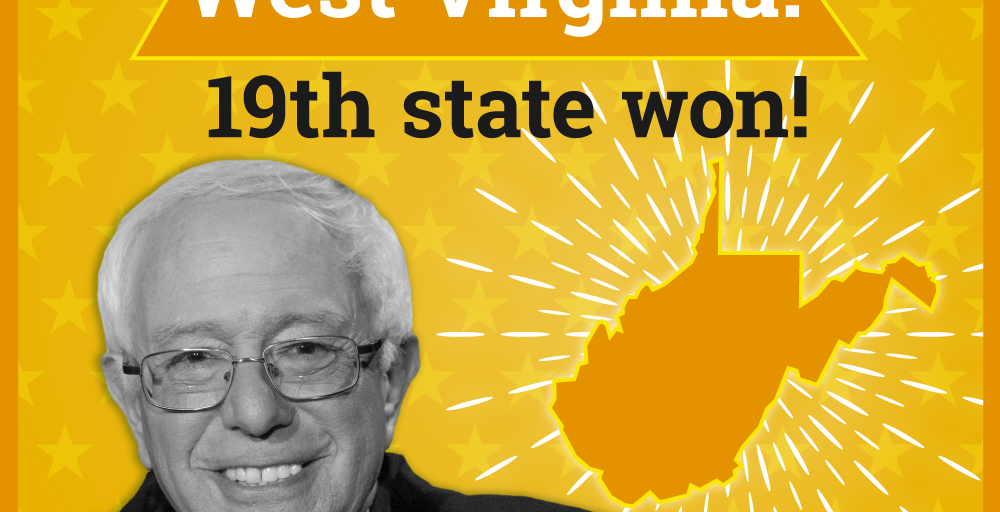 Bernie Sanders Wins West Virginia.