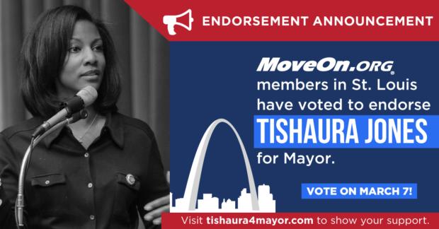 MoveOn endorses Tishaura Jones