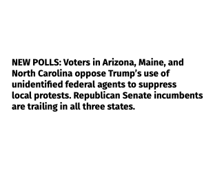 voters oppose unidentified federal police suppressing protests